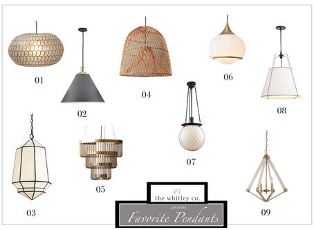 Our Favorite Pendant Lights