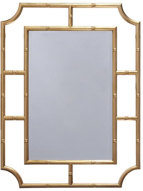 Gold Leaf Bamboo Mirror
