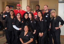Dentist Shawn Snider with group
