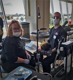 Dentist Shawn Snider volunteering