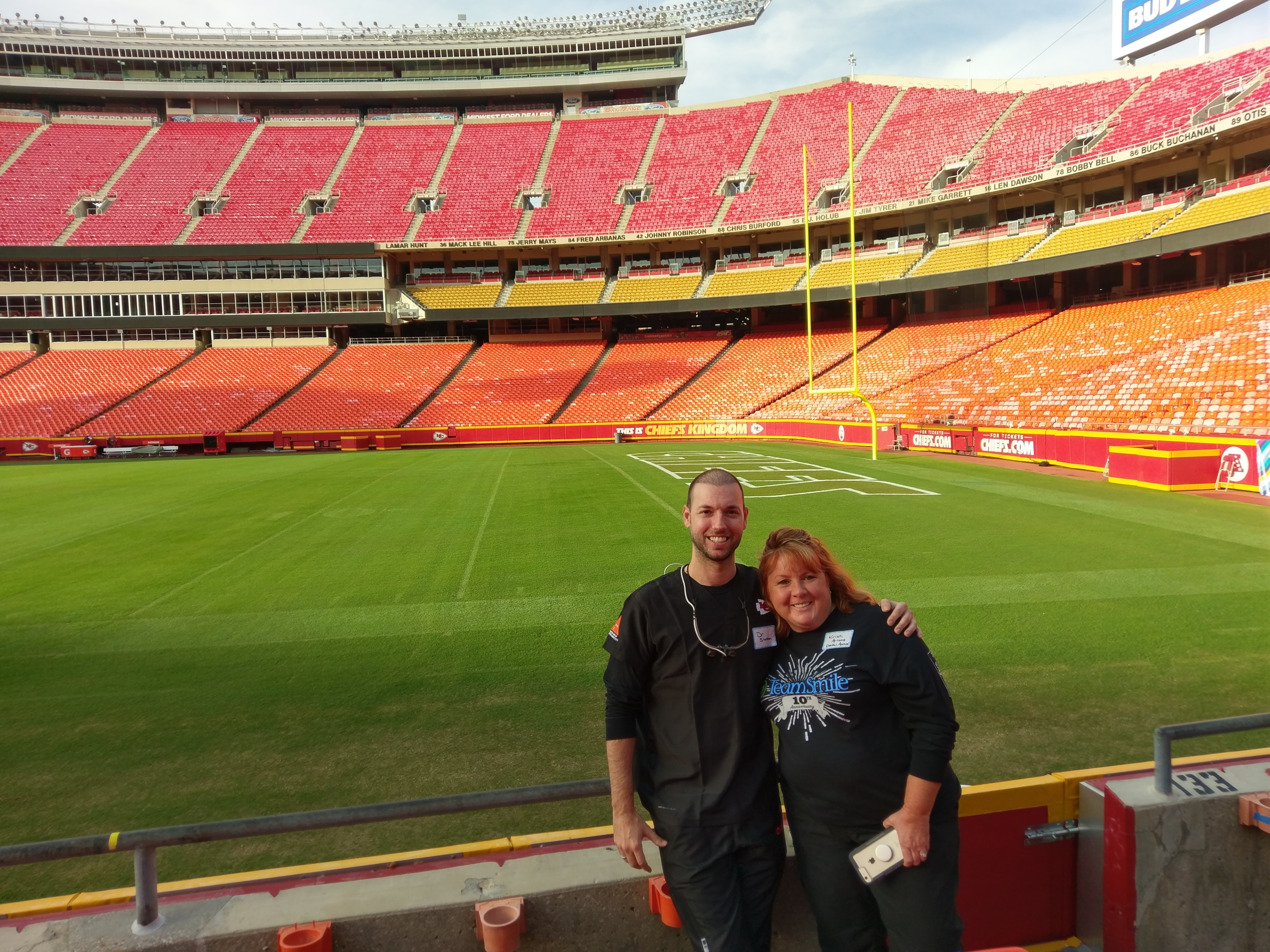 Dentist Shawn Snider at Chiefs
