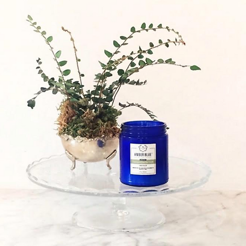 Amber Blue Nature's Essence Lemongrass Sage Soy Candle