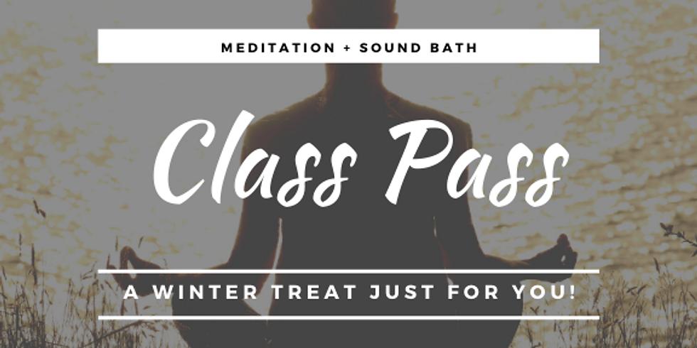 GIFT CARD: Meditation + Sound Bath Class Pass