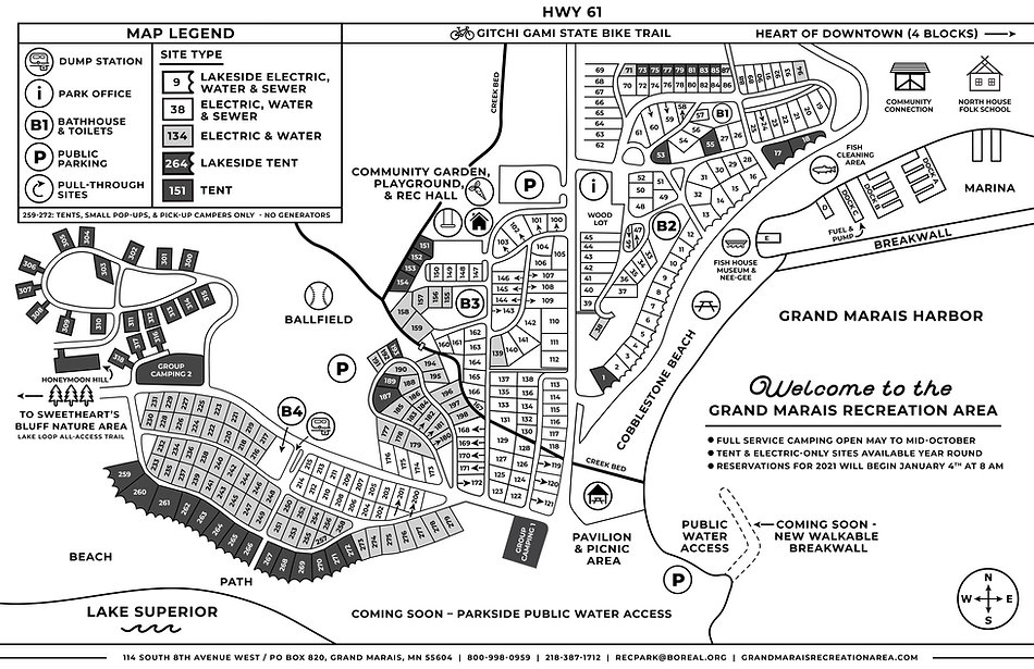 2020 Grand Marais Recreation Area Map