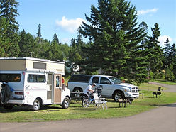 Grand Marais campground camping sites on Lake Superior