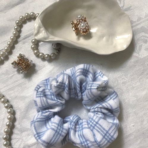 SCRUNCHIE White/Blue