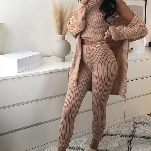 PINK 3-PIECE KNITTED SET