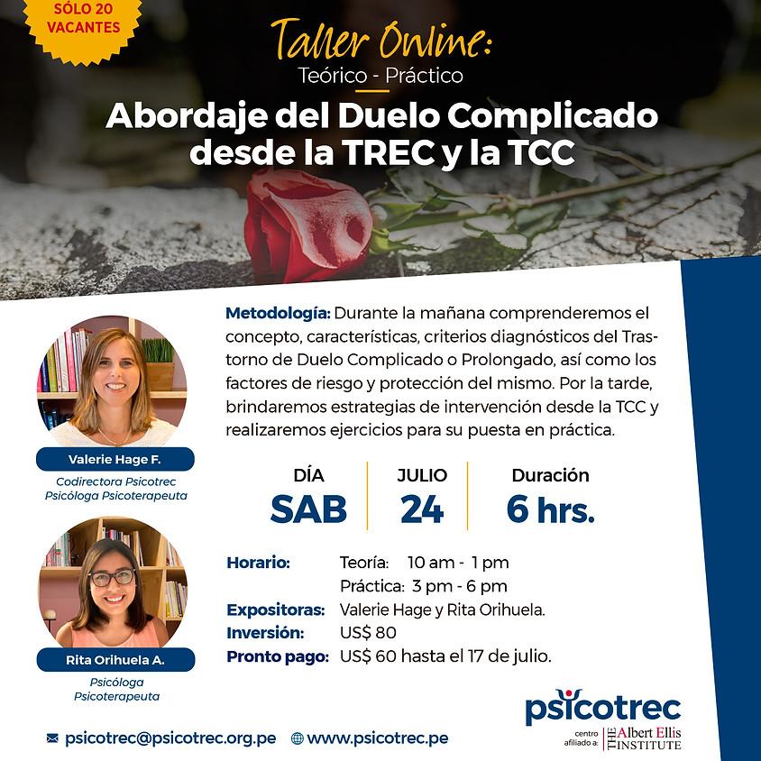 Abordaje del Duelo Complicado desde la TREC y la TCC