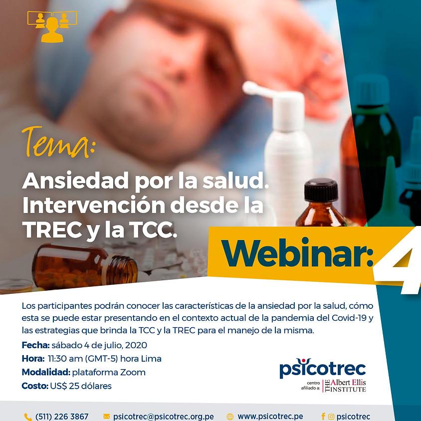 Webinar: Ansiedad por la salud. Intervención desde la  TREC y la TCC.