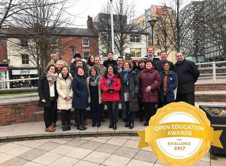 ENGAGE wins the 2017 OER & Project Awards for Open Education Excellence!