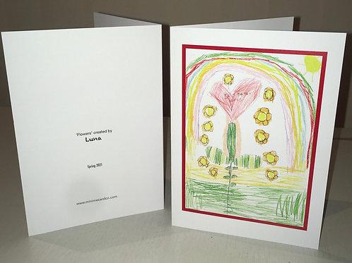 Greetings card and envelope - d