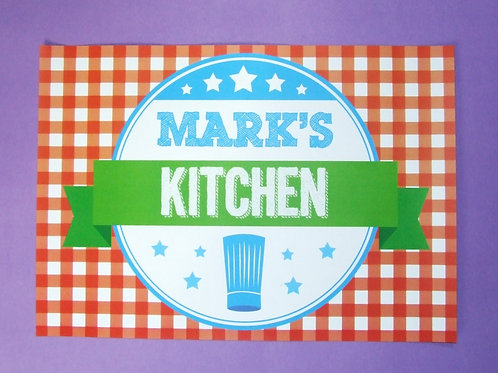 My kitchen metal sign