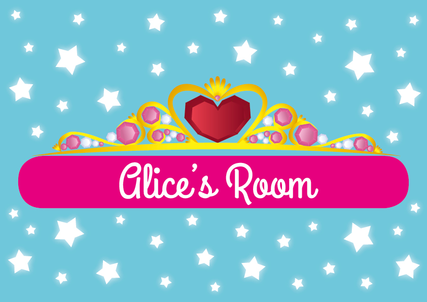 princess door sign a4