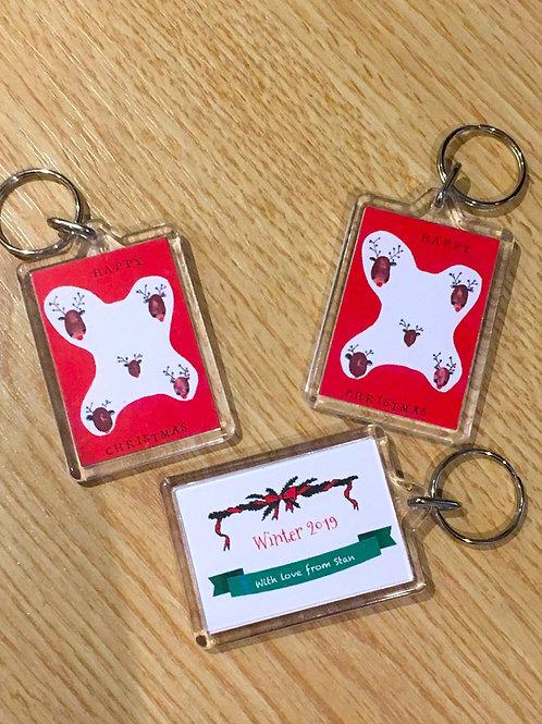 3 x Personalised plastic keyrings