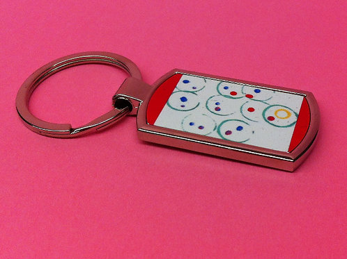 Personalised metal keyring - d