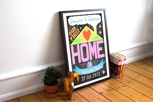 "Personalised ""Our first home"" print"