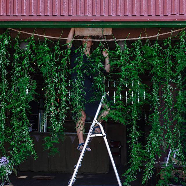 I helgen på Pernmyrs gård regnade det bl