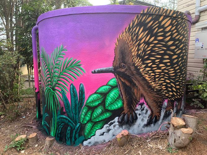 larnook school watertank mural