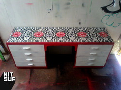 custom painted recycled desk