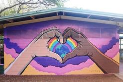 wellington point school mural / One Love
