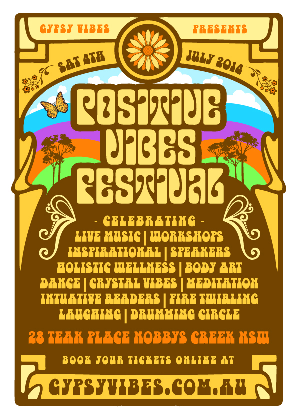 positive vibes festival poster