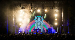 Wolfmother festival projection