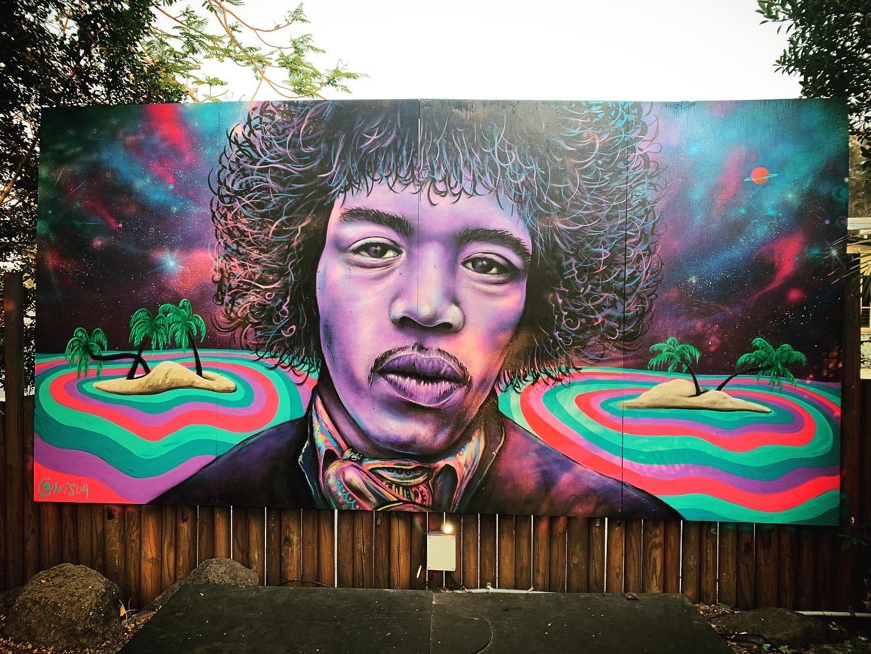Jimi Hendrix Byron Bay