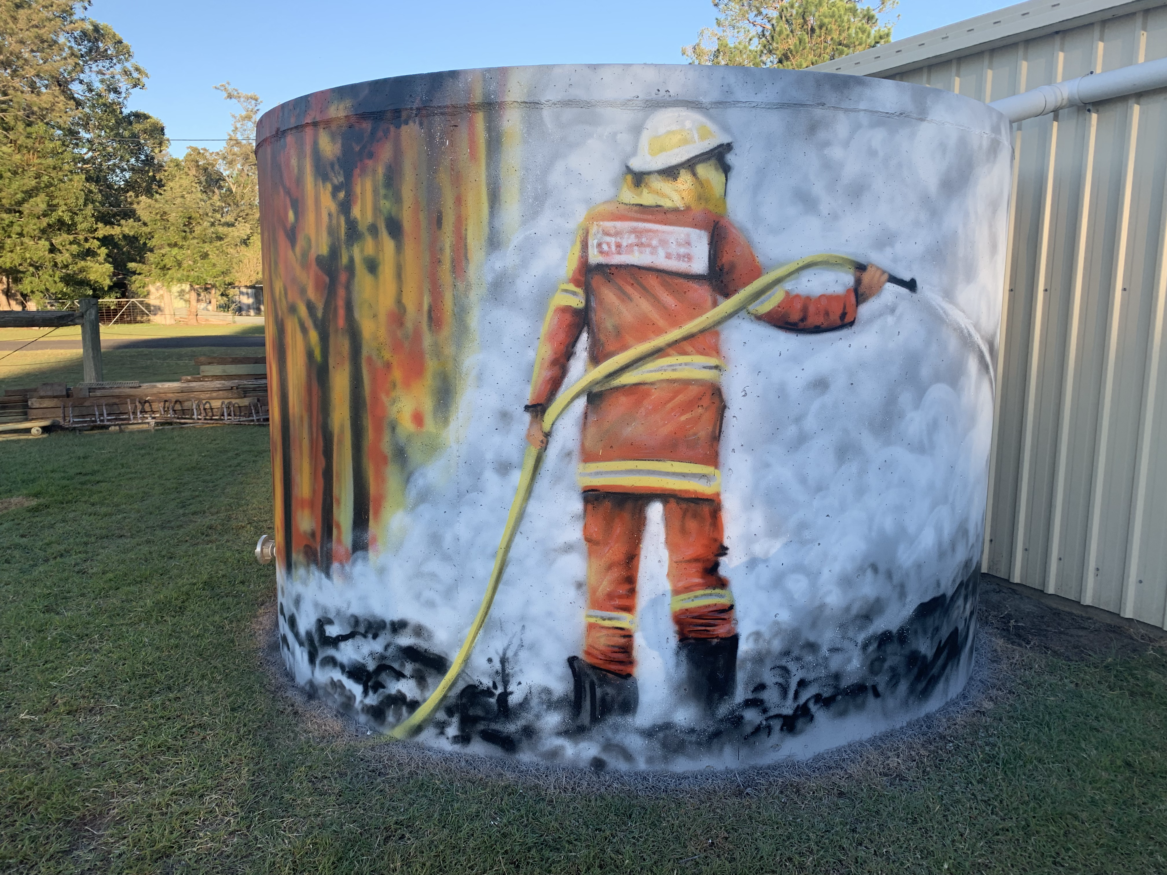 Rappville fire tanks artwork