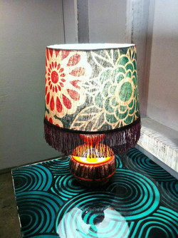 Recycled Lamp shade recovered