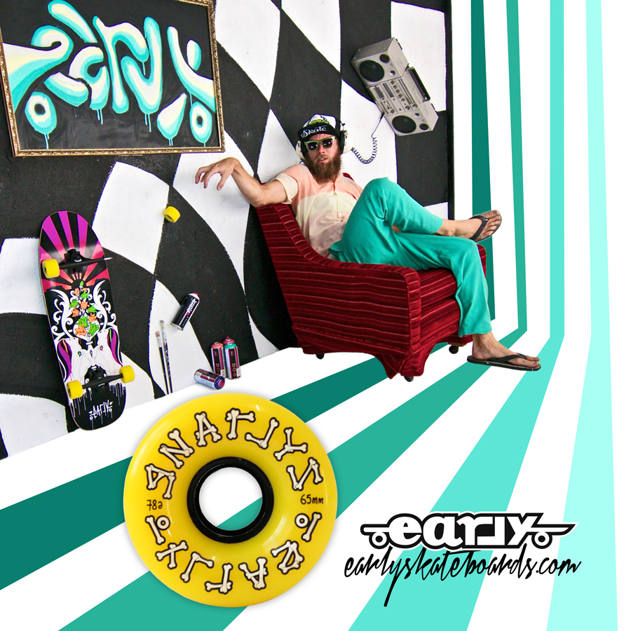 GNARLYS AD early skateboards