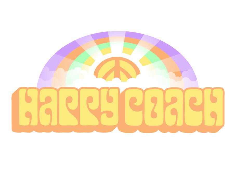 happy coach logo design