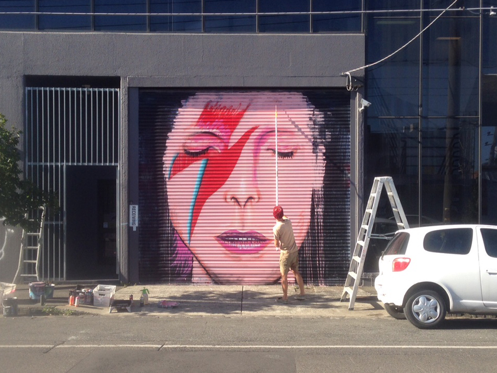 bowie tribute Collingwood Melbourne