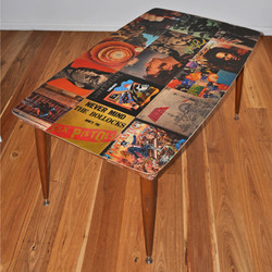 record cover table // epoxy resin