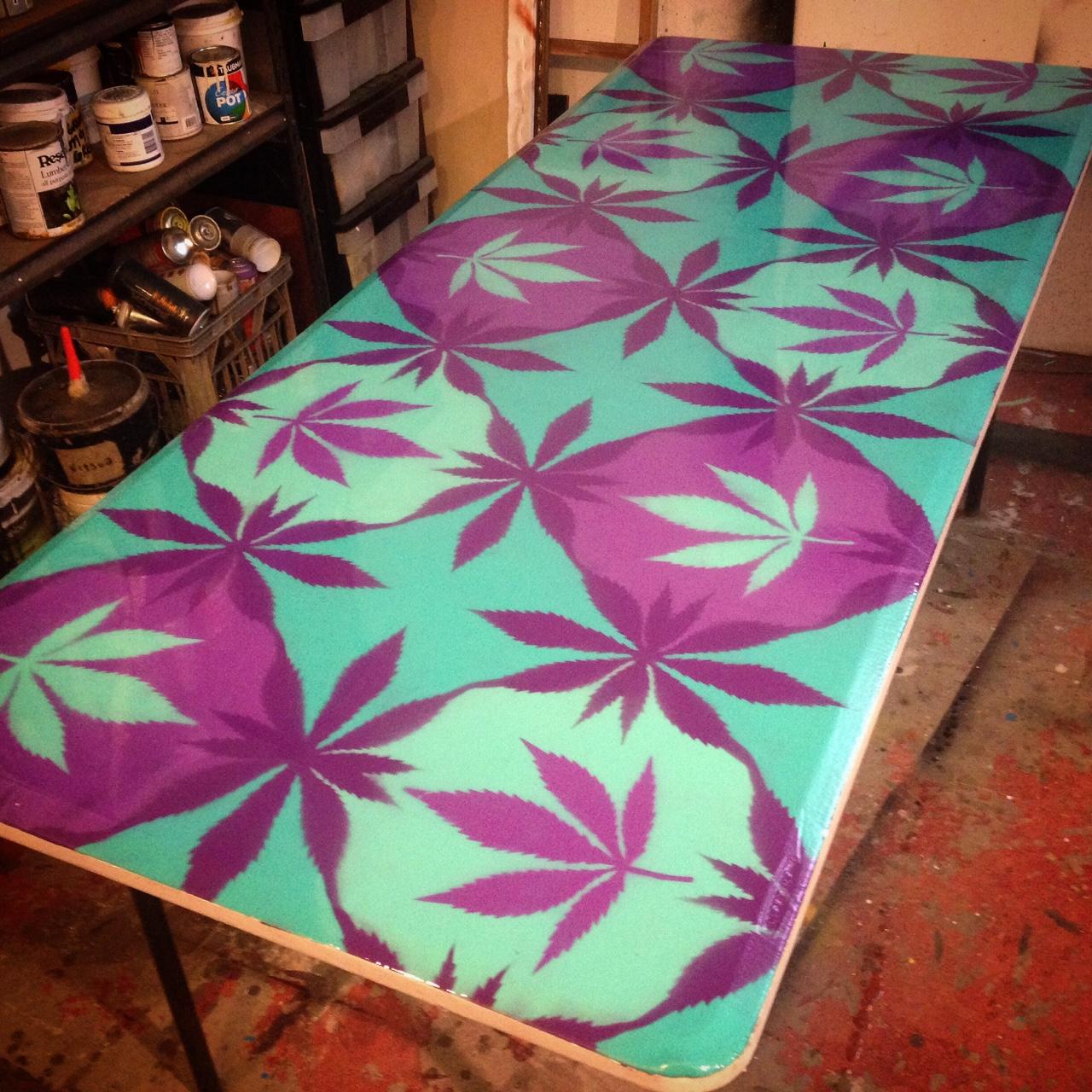 cannabis table // byron bay markets
