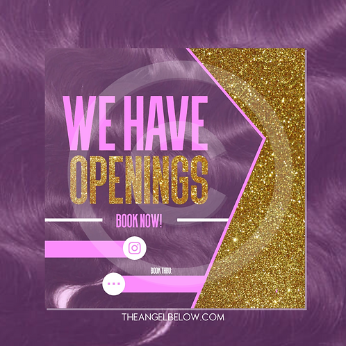 """""""We Have Openings"""" Pre-made Flyer"""