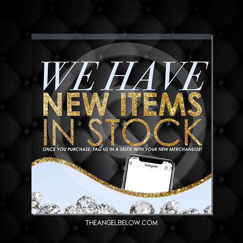 """New Items In Stock"" Pre-made Flyer"