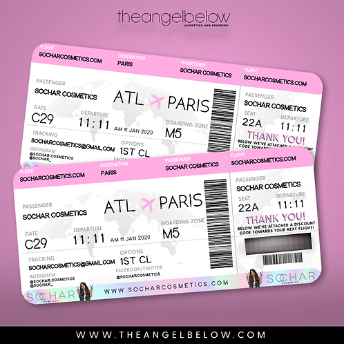 Plane Ticket Business Card (Design-Only)