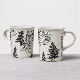 Stoneware Mug Large - Set of 2 - Trees - Hearth & Hand™ with Magnolia