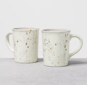 Stoneware Mug Set of 2 Speckled - White - Hearth & Hand™ with Magnolia