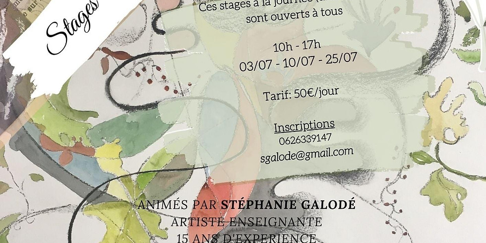 """Stage Créer Peindre Dessiner un """"Carnet de Voyage"""""""