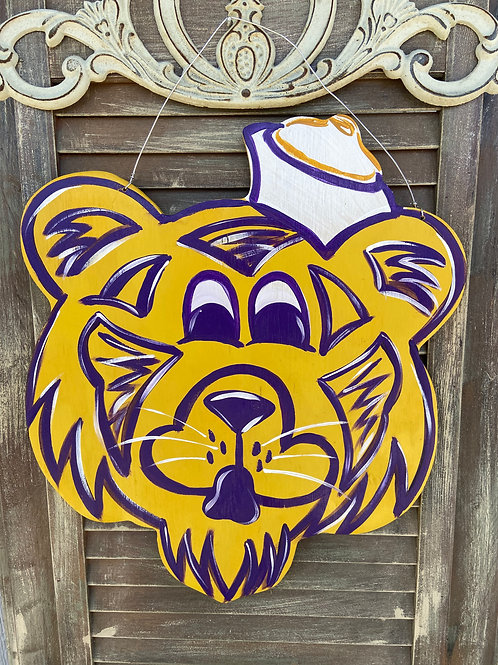Old time Mike the Tiger Door Hanger