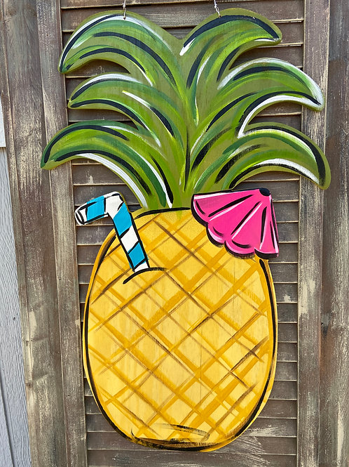 Summer Pineapple Door Hanger