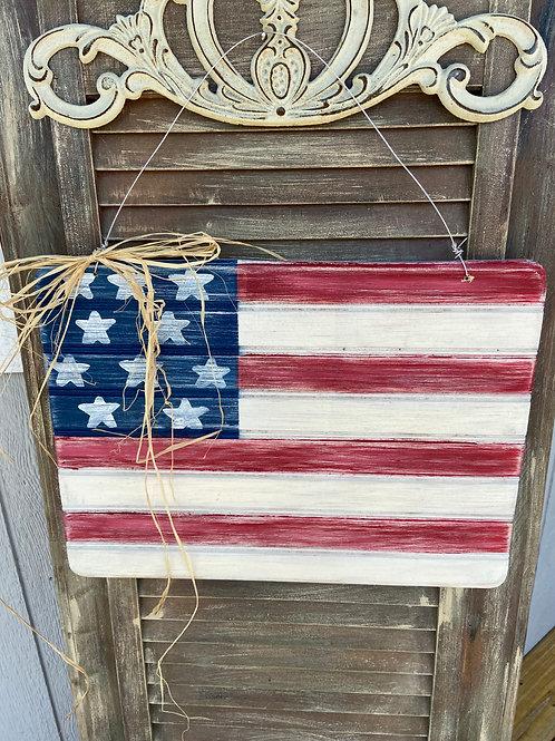 Rustic Flag Door Hanger