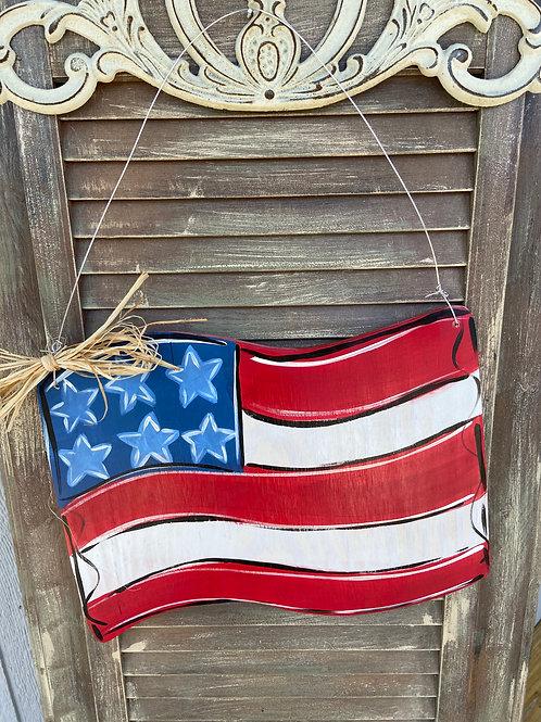 Wave Flag Door Hanger