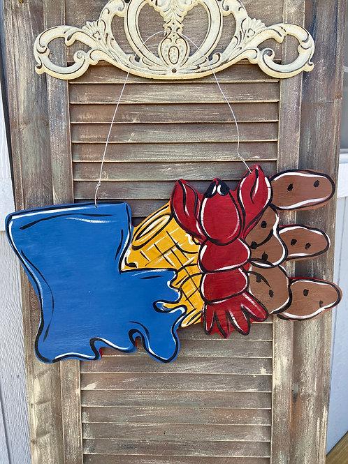LOVE Louisiana Door Hanger