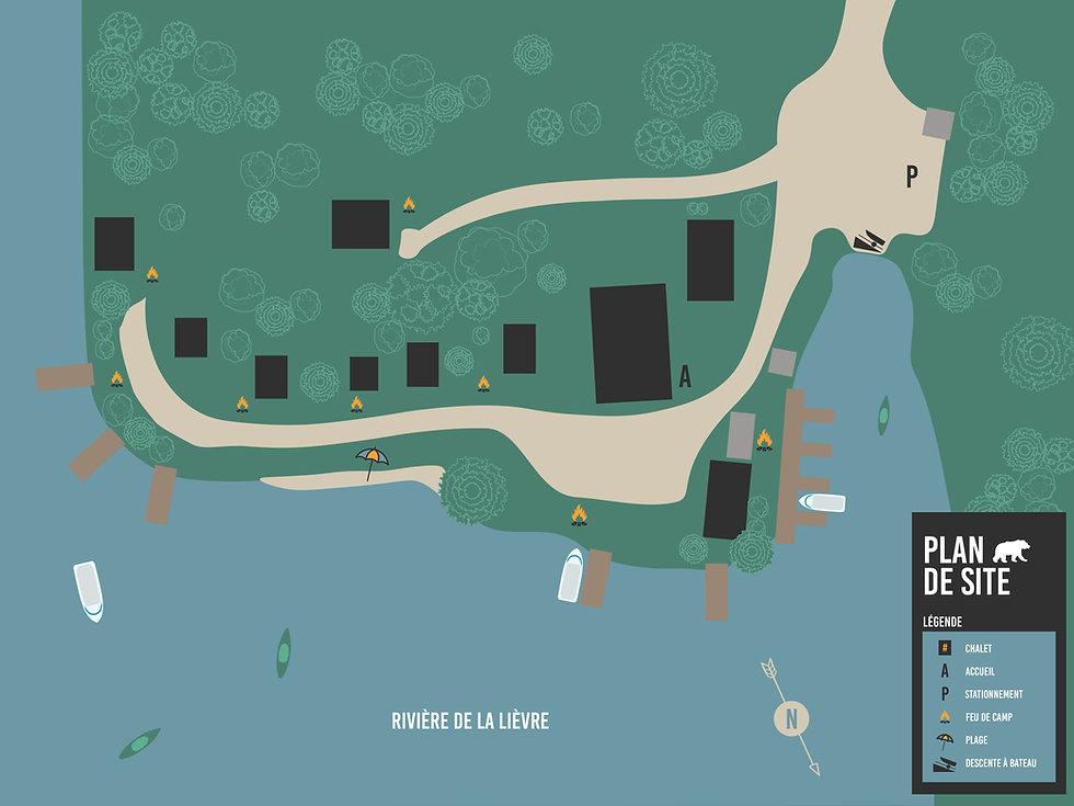 Pourvoirie de la Lièvre - Plan de site_W