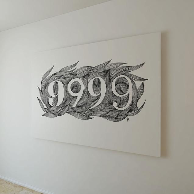 9999 wall