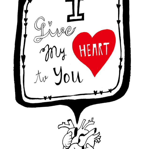 I give my heart to you.