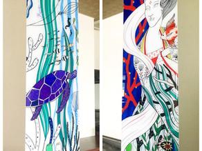 壁画の完成 稲取温泉「SPA・RESORT 竜宮の使い」