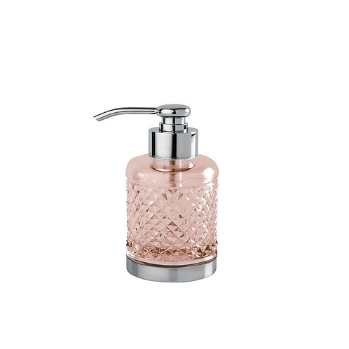 C&B Cristal Taille «Diamant» Lisse Small Soap Dispenser - Pink